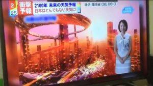 西暦2100年の日本の天気予報