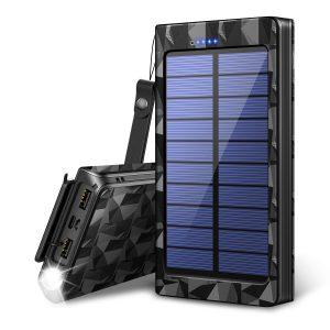 ソーラーパネル付きモバイルバッテリー|ソーラーシートチャージャー